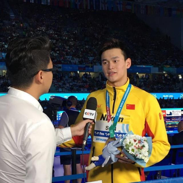 孙杨夺冠咳嗽不止采访直言为大连培训争口气中国棒球游泳图片