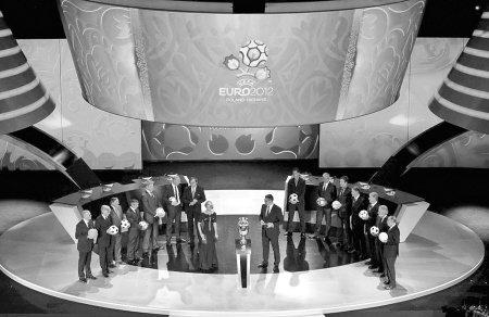 2012年欧洲杯分组抽签仪式,在乌克兰首都基辅的艺术之宫举行.