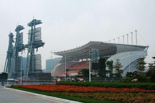 直击广州亚运会开幕式彩排 主火炬塔仍未显形