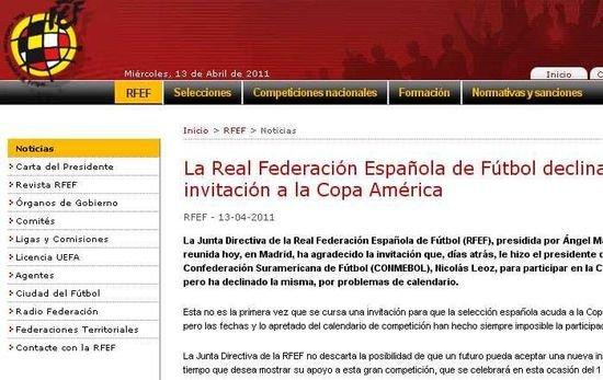 西班牙拒绝参加美洲杯 巴萨队魂或退出国家队