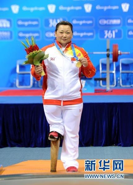 举重女子82.5公斤以上级:中国选手夺冠[组图]