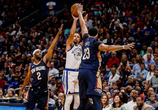 28+9!Curry晉升隊史第二助攻王 招牌三分埋葬鵜鶘(影)
