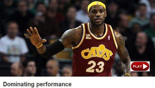 NBA官网:皇帝破队史纪录 绿军遭最惨痛失利