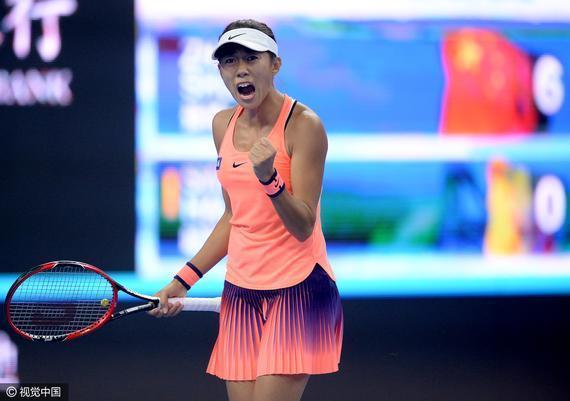 张帅:感谢网球带来快乐 每场比赛都是一件作品