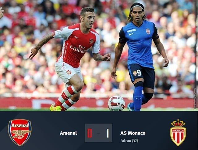 酋长杯-阿森纳0-1摩纳哥,最终排名第二