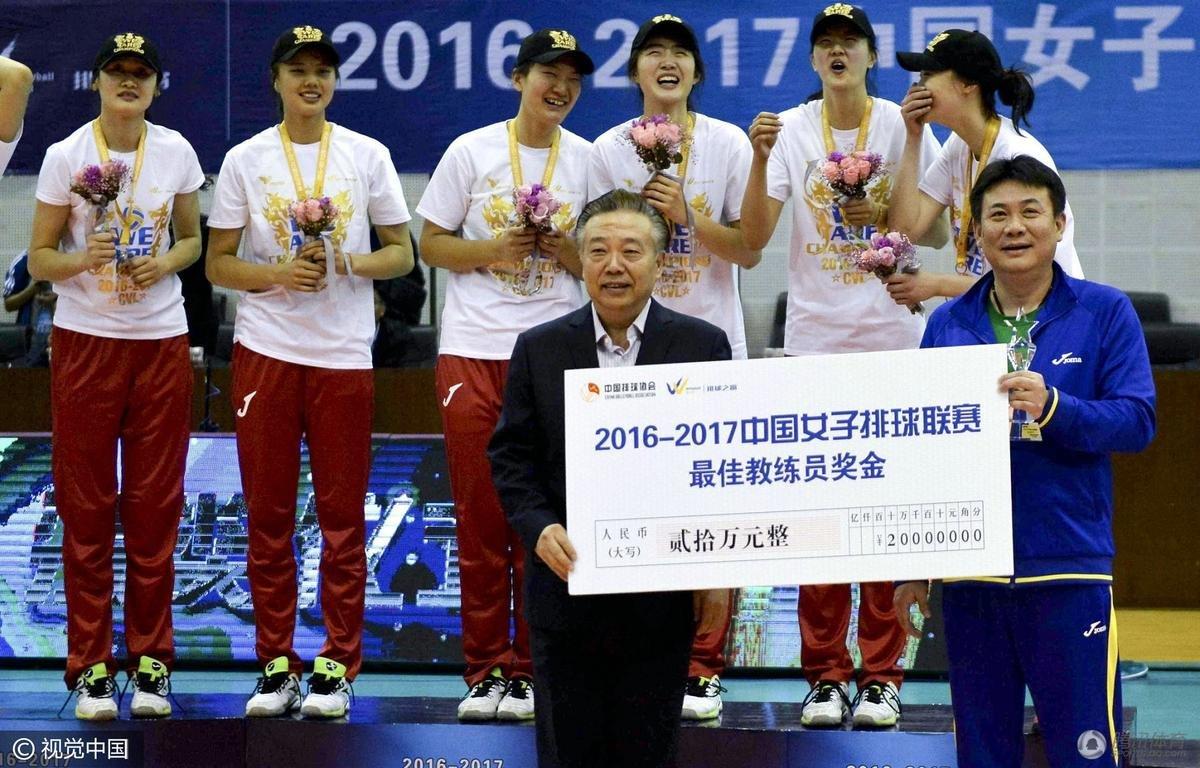 蔡斌(右)获最佳教练