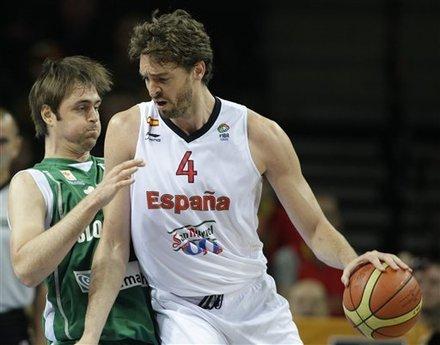 加索尔砍19分16板 西班牙灭斯洛文尼亚进四强