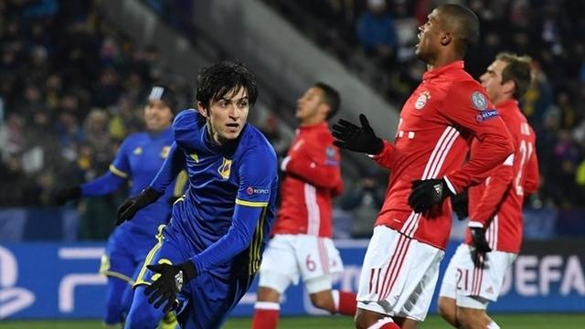 欧冠-拜仁2-3爆冷负弱旅 科斯塔贝尔纳特建功
