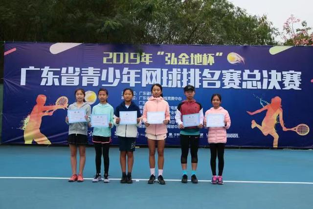 广东省青少年网球排名赛总决赛决出15项冠军归属2019系列赛迎收官