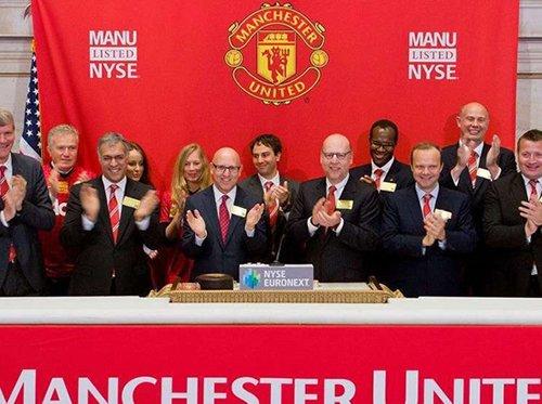 2012年,曼联在美国纽约交易所上市