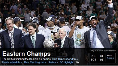 ESPN:绿军东部问鼎 X因素或成总决赛胜负关键