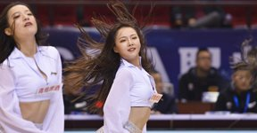 高清:篮球宝贝美艳动人 激情热舞释放青春活力