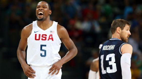 NBA总裁观战激发美国队 杜兰特:仍不会满足