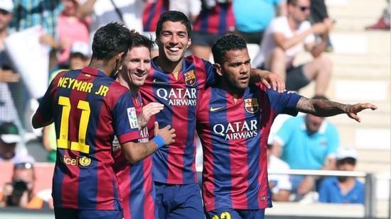 Barcelona flat Away team history the greatest number of league goals score broken hundred
