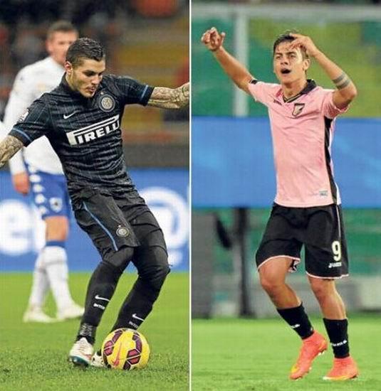 国米VS巴勒莫前瞻:蓝黑变阵 阿根廷新星对决