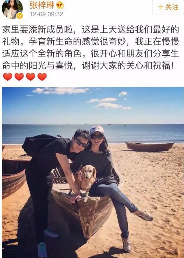 长腿女神张梓琳宣布怀孕 曾与刘翔传绯闻
