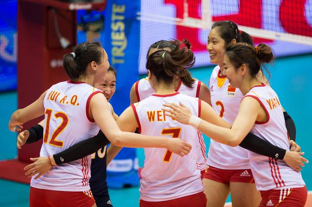 世锦赛中国女排七连胜 克罗地亚单局不超15分