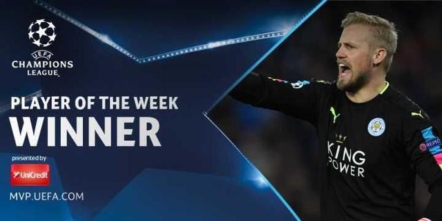 欧冠本周最佳球员揭晓 莱斯特门神力压众球星