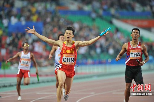 """男子4X100米接力中国夺冠 下一目标""""奥运前八"""""""