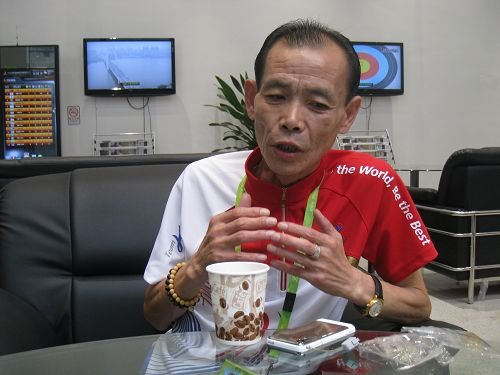 卢民相接受腾讯体育记者专访