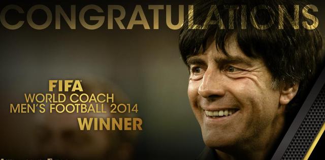 FIFA年度男足最佳主帅:德国主帅勒夫当选