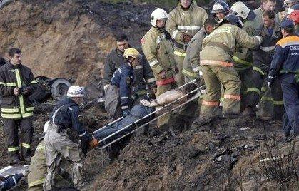俄客机坠毁43人遇难 河中发现冰球队员遗体
