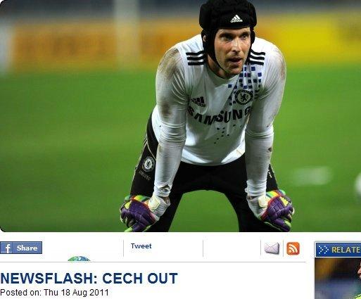 切赫因膝盖受伤休战4周 切尔西遭遇门将危机