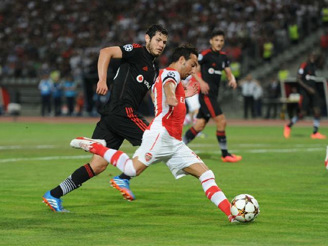 图片:阿森纳0-0贝西克塔斯比赛瞬间