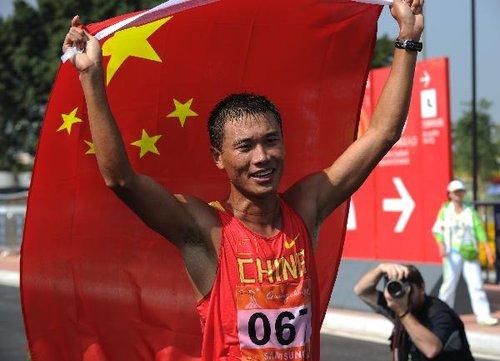 田径:中国选手司天峰夺得男子50公里竞走冠军(组图)
