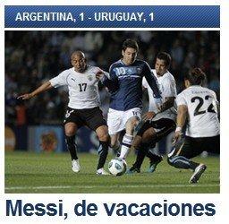 巴萨喉舌欢呼阿根廷被淘汰 梅西一人撑不起天