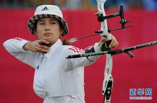 奇甫倍夺三金现领袖风采 她是韩国射箭队灵魂