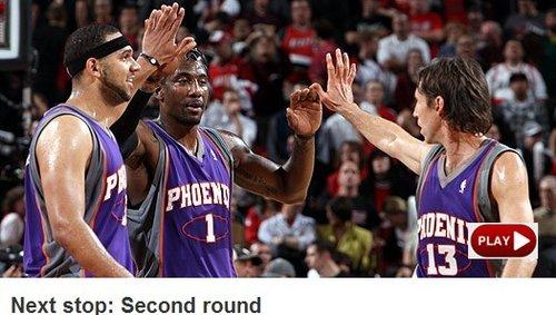 NBA官网:理查德森立功 太阳挺进次轮碰马刺