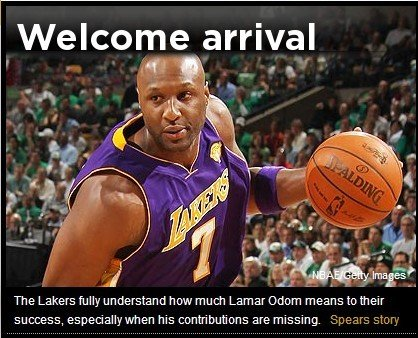 Yahoo:奥多姆是湖人夺冠关键 他需承担更多