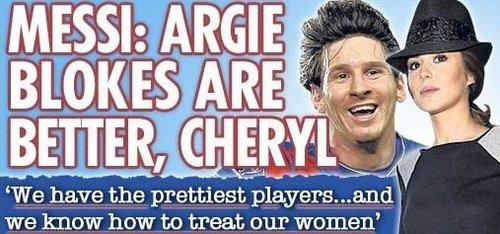 ...,世界足球先生梅西最近向深陷离婚风波中的英国国脚阿什利・科尔...图片 44170 500x234