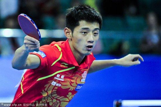中国3-1日本进男团决赛 张继科/王皓双打丢分