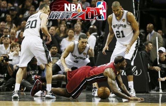 NBA巅峰之战之马刺 圣城总决赛蹂躏热火big3