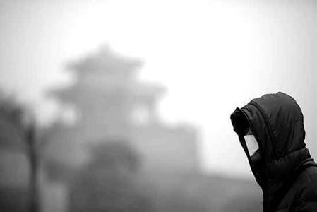 雾霾红警北京奥森跑步圣地冷清 商贩日损千元