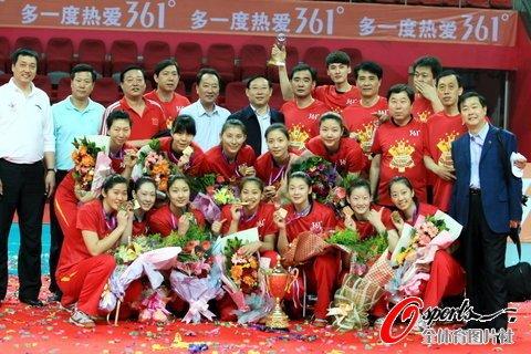 女排决赛天津3-2逆转恒大 9年8冠豪取五连冠