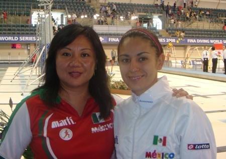 墨西哥跳水美女名花有主 男友是其国家队队友