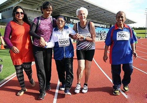 老当益壮!印度101岁老太参加百米赛跑