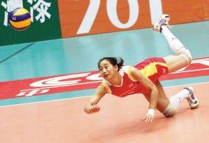 天津女排缺核心 王茜:用摔倒换来球队的站起