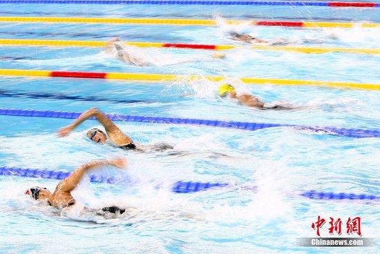 图文:广州亚运会 游泳大战拉开帷幕