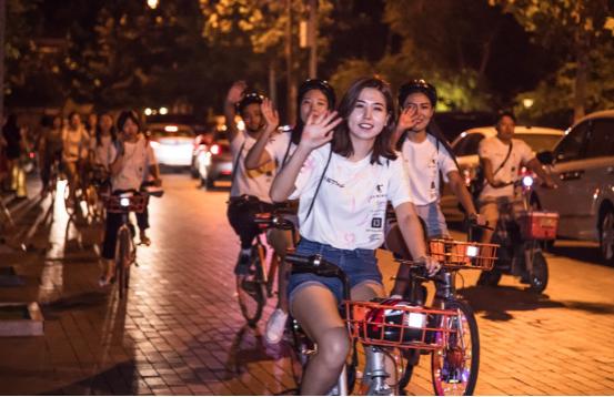 天津今夜荧光闪耀,乔丹体育荧光骑行助力全运会