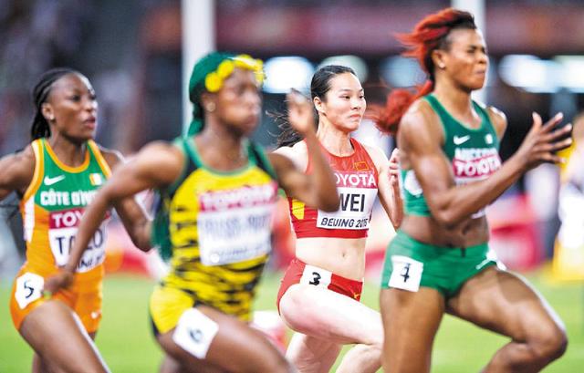 韦永丽提高0.02秒用两年 成绩远超日本女飞人