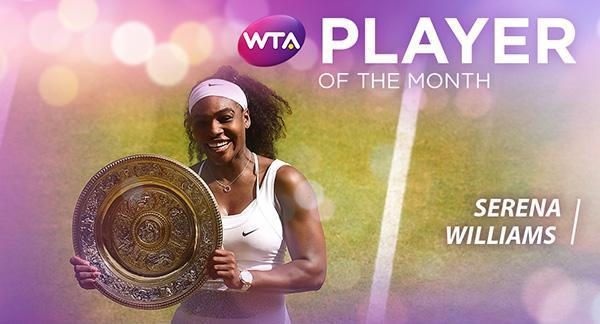 小威获选WTA六月最佳球员 半年内第三次当选