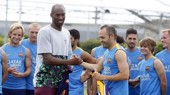 Bryant witnessing Barcelona Training