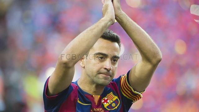 Xavi and Barcelona highlight moment