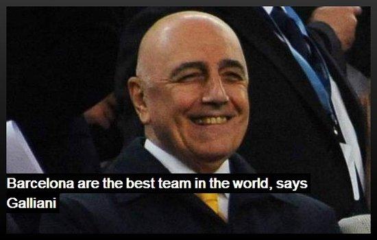 加利亚尼:巴萨天下第一 米兰未放弃联赛冠军