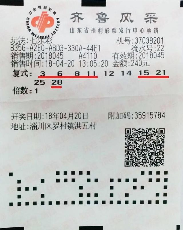 山东合买团喜获七乐彩87万大奖 之前曾中279万
