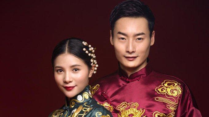 秦凯何姿中式婚纱 新娘宛如古典美人